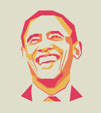 Barack Obama simple line and simple colour vector portrait/eps Stock Photo