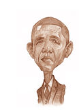Barack Obama Sketch stock image