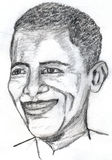 Barack Obama Sketch Royalty Free Stock Images