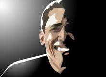 Barack obama smiles. Barack obama's sunny smile amongst moonlight royalty free illustration