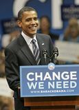 Barack Obama Speaks bij een Verzameling royalty-vrije stock foto's