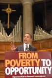 Barack Obama Speaks at Church Royalty Free Stock Images