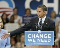 Barack Obama Speaks em uma reunião imagem de stock royalty free