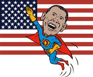 Barack Obama superhero Royalty Free Stock Photos