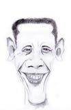 Barack Obama. US president Barack Obama. Water colour original artwork royalty free illustration