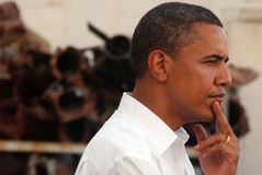 Barack Obama Visit till Israel Royaltyfri Bild