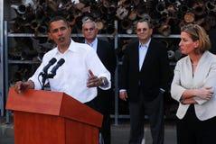 Barack Obama Visit till Israel Royaltyfria Bilder