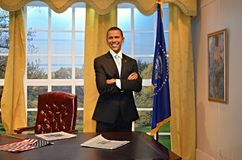 Barack Obama Wax Figure Photographie stock libre de droits