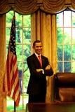 Barack obama wax statue at madame tussauds in hong kong royalty free stock image