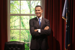 Barack Obama. Wax statue at Madame Tussauds in London stock photo