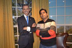 Barack Omaba at madame tussauds wax museum, SFO stock photos