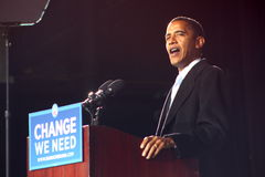 barackstrandobama virginia Royaltyfria Bilder
