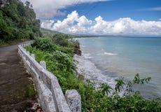 Baracoa kustväg till El Yunque Arkivfoto