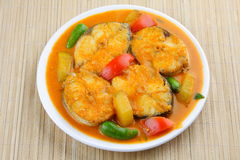 Baracuda Fish curry Asian style. Royalty Free Stock Photos