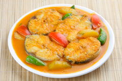 Baracuda ryba curry'ego azjata styl. obraz stock