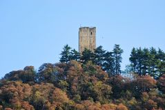 Baradello Castle stock photo