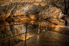 Baradle jama w Aggtelek parku narodowym w Hungury zdjęcie stock