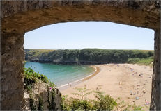 barafundle bay fotografia royalty free