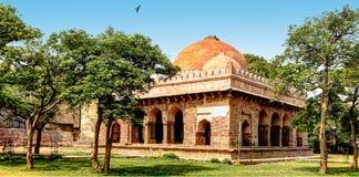 Bara Khamba or Baradari. In Hindi or Urdu language Barah Khamba or Baradari are structures with 12 pillars or 12 arches. Similar structures exist in Basti Stock Photo