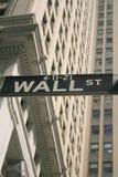 Barajadura de Wall Street Imagen de archivo