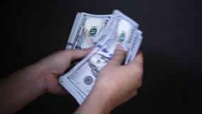 Barajadura del dinero almacen de video