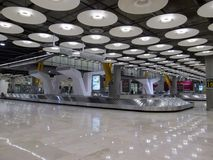 Barajas airport Madrid Spain very early in the morning Baggage transporter belt Stock Photography