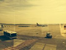 Barajas Madrid airport. stock images