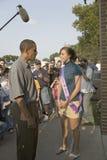 Barak Obama会议公平衣阿华小姐的状态 库存照片