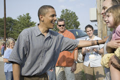 Barak Obama campaigning for President Stock Photography