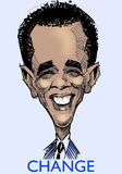 Barak Obama caricature' s Stock Photography