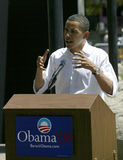 Barak Obama at a Press Conference Stock Image