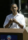 Barak Obama at a Press Conference Stock Photo