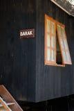 Barak shack. Wood house called barak Royalty Free Stock Images