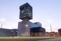 BARAKALDO BASKISKT LAND, SPANIEN, MARS 01, 2016: Den Bilbao utställningen Arkivbild