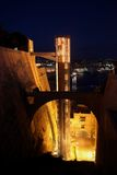 The Barakka Lift at night, Malta Stock Images