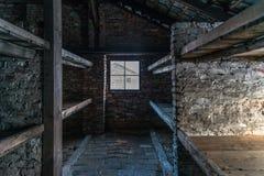 barakken van Bi van Auschwitz van het Naziconcentratiekamp Stock Afbeeldingen