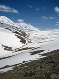 Baralacha Pass in the Himalayas Stock Image