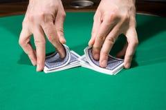 Baralhando cartões Imagem de Stock Royalty Free