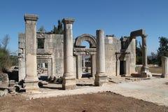 Baram古老犹太教堂,以色列 免版税库存照片