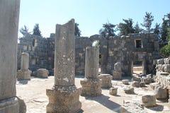 Baram古老犹太教堂,以色列 库存图片