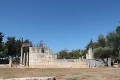 Baram古老犹太教堂,以色列 免版税库存图片
