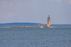 Baran wyspy wypusta światło - Maine obraz stock