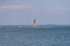 Baran wyspy wypusta światło - Maine fotografia stock