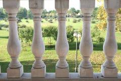 Barandilla blanca Foto de archivo