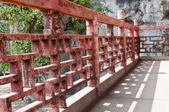 Barandilla china del templo Imagen de archivo libre de regalías