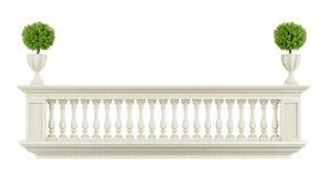Barandilla clásica del balcón Imágenes de archivo libres de regalías