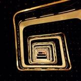 Barandilla de oro Imágenes de archivo libres de regalías