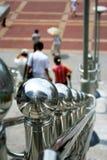 Barandilla del acero inoxidable Fotografía de archivo libre de regalías