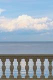 Barandilla del mar Imagen de archivo