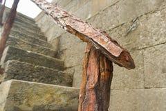 Barandilla oxidada fotografía de archivo